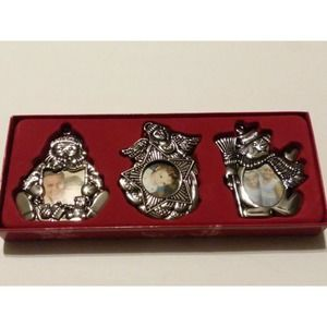 GORHAM Frames Silverplated Ornaments Christmas